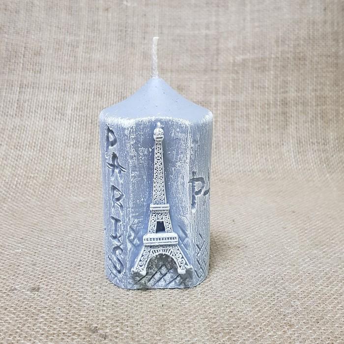 """Свеча """"Париж"""" серая 5,5х10,5"""