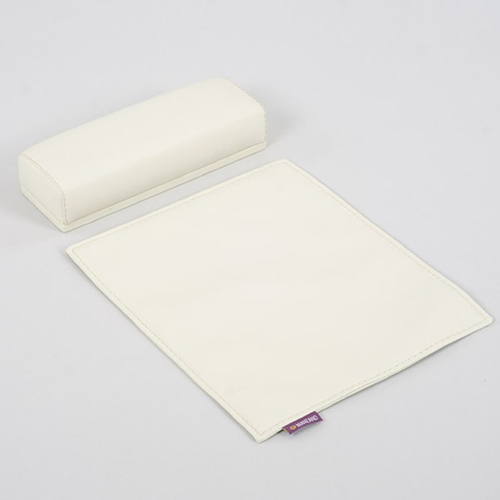 Подушка для маникюра Afina с ковриком и чехлом, цвет слоновая кость