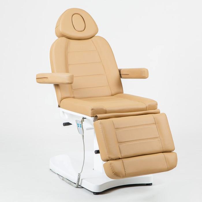 Косметологическое кресло SD-3803A, 2 мотора, цвет светло-коричневый