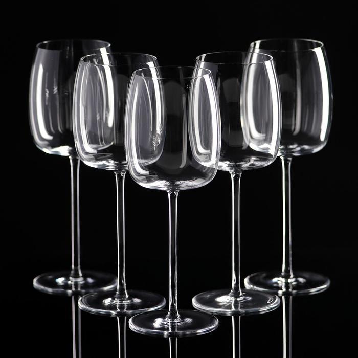 Набор бокалов для белого вина, 5 шт, УЦЕНКА 350 мл, 17,5 × 23 × 21,5 см
