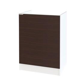Стол под накладную мойку, 600 × 462 × 820 мм, цвет белый / венге Ош