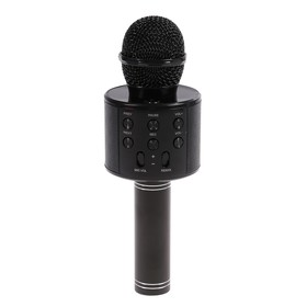 Микрофон для караоке LuazON LZZ-56, 1800 мАч, чёрный Ош
