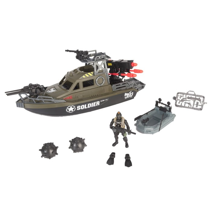 Игровой набор «Ракетный катер», с лодкой и фигуркой