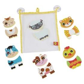 Игровой набор фигурок-стикеров для ванны «Веселые друзья», в сетке