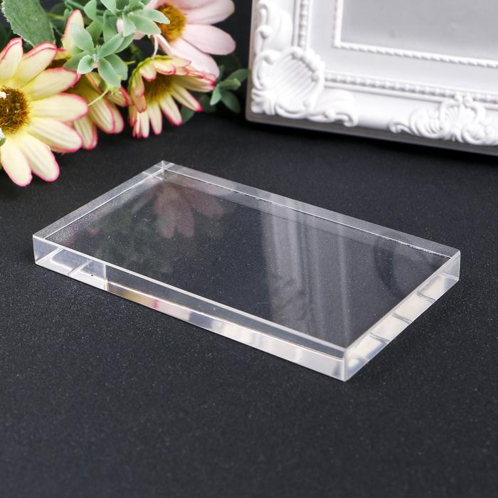 Акриловый блок для прозрачных штампов 57х102х10мм