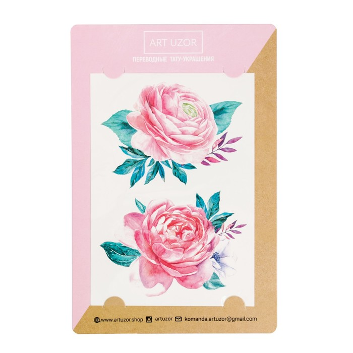 Наклейки‒тату Roses, 14 × 21 см