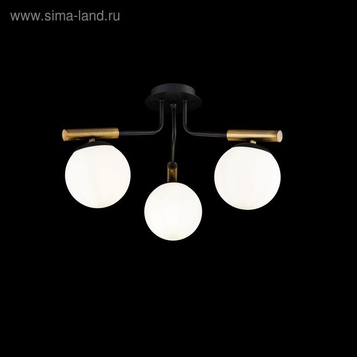 Люстра Paolina 3x40Вт E14 чёрный