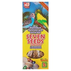 """Палочки """"Seven Seeds"""" для попугаев, витамины и минералы, 3 шт, 90 г"""