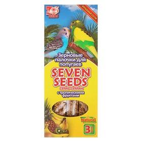 Палочки Seven Seeds для попугаев, тропические фрукты, 3 шт, 90 г Ош