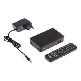 Приставка для цифрового ТВ 'Эфир' HD-222, FullHD, DVB-T2, HDMI, RCA, USB, черная Ош