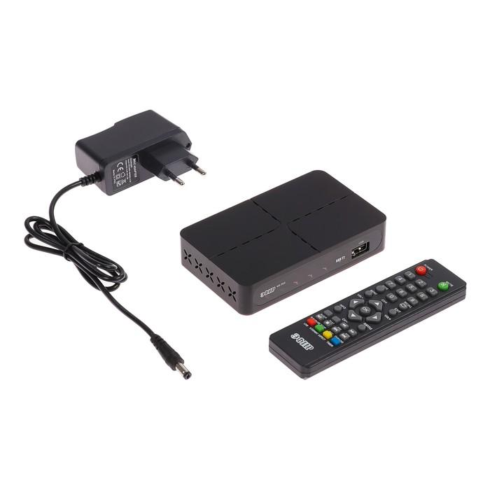 """Приставка для цифрового ТВ """"Эфир"""" HD-222, FullHD, DVB-T2, HDMI, RCA, USB, черная"""