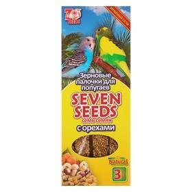 Палочки Seven Seeds для попугаев, орехи, 3 шт, 90 г Ош