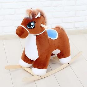 Качалка «Лошадка», музыкальная, цвет коричневый Ош