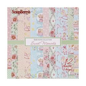 """Набор бумаги для скрапбукинга  """"Маленькая принцесса"""" 12 листов 15*15 см 190 гр/м"""