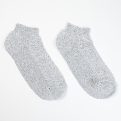 Носки женские, укороченные цвет серый, р-р 23 - Фото 1