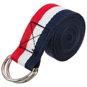 Ремень для йоги, 250 × 4 см, цвета микс