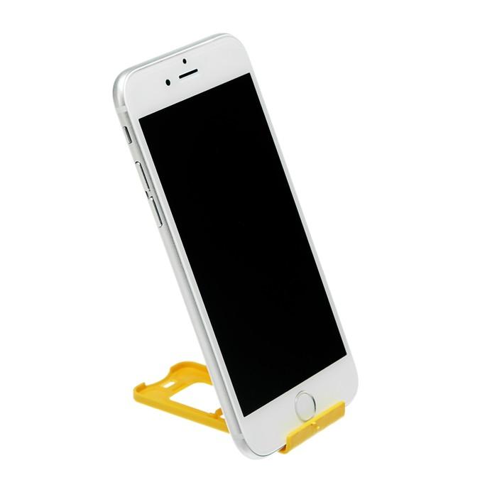 Подставка для телефона LuazON, складная, регулируемая высота, желтая