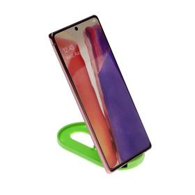 Подставка для телефона LuazON, складная, регулируемая высота, резиновая вставка, зелёная Ош