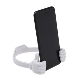 Подставка для телефона LuazON, в форме рук, регулируемая ширина, белая Ош