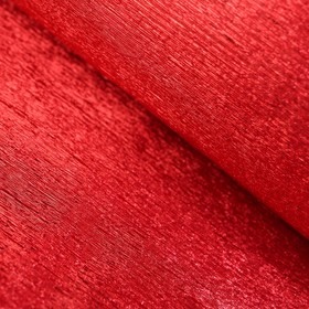 Бумага креп 'Красный апельсин' металлизированный, 0,5 х 1 м Ош