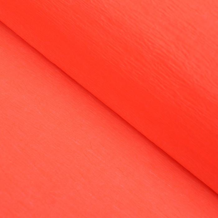 Бумага креп Оранжевый неон, 0,5 х 2 м