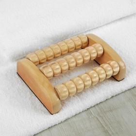 Массажёр для ног «Ножное счастье», 3 ряда, деревянный