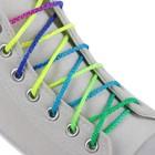 Шнурки для обуви, круглые, d = 4 мм, 120 см, пара, цвет «радужный»