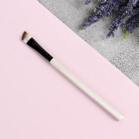 Кисть для макияжа, скошенная, 13 см, цвет коричневый
