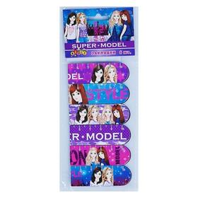 Набор закладок магнитных, 6 штук, KIDIS, серия SUPER MODEL (девушки)