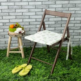 Подушка на стул уличная «Этель» Листья 45×45 см, репс с пропиткой ВМГО, 100% хлопок Ош