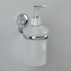 Дозатор для жидкого мыла настенный Accoona A11813, стекло, цвет хром