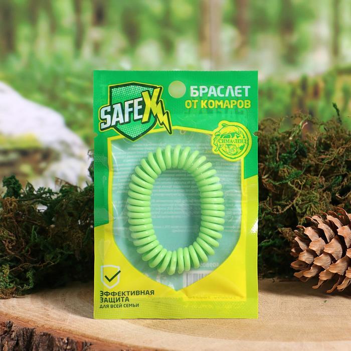 Браслет антимоскитный SAFEX, пружинка, №1, зеленый, 1 шт.