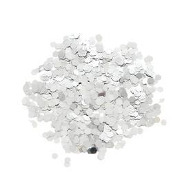 Наполнитель для шара «Конфетти шестиугольник», 3 мм, 10 г, цвет серебряный