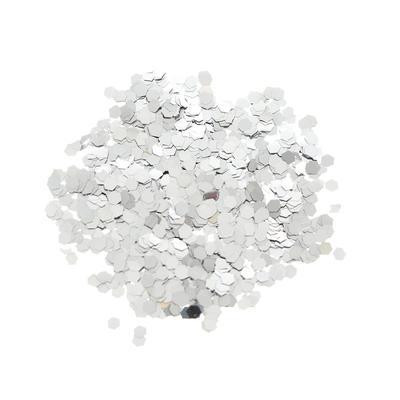 Наполнитель для шара «Конфетти шестиугольник», 3 мм, 10 г, цвет серебряный - Фото 1