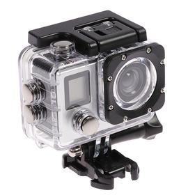 Экшн-камера Luazon RS-01, 4К, Wi-fi, пульт, чехол для подводной съемки, серебристая Ош
