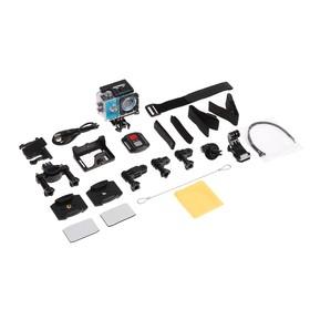 Экшн-камера Luazon RS-04, FHD, Wi-fi, чехол для подводной съемки, 18 предметов, синяя Ош