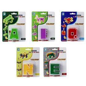 Трансботы «Lingvo Zoo», 26 букв, цвета МИКС