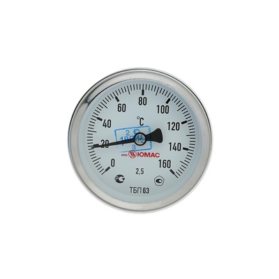 Термометр биметаллический, 150°C, с погружной гильзой 60 мм - Фото 1