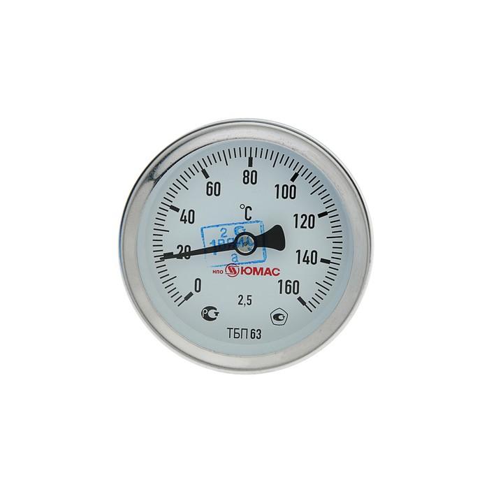 Термометр биметаллический, 150°C, с погружной гильзой 60 мм