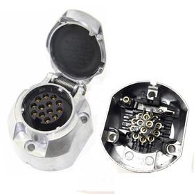 Розетка фаркопа 13 контактов ЕВРО металл Ош