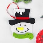 Набор для творчества - создай ёлочное украшение из фетра «Милый снеговичок»