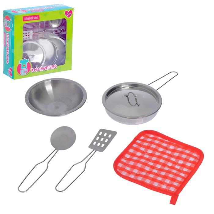 """Набор металлической посуды, """"Привет от шеф повара"""", 5 предметов"""