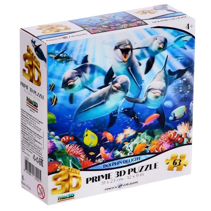 3D Пазл 63 элемента «Дельфиний восторг»