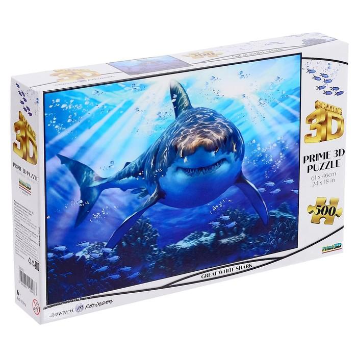 3D Пазл 500 элементов «Большая белая акула»