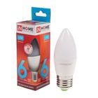 Лампа светодиодная IN HOME LED-СВЕЧА-VC, Е27, 6 Вт, 230 В, 4000 К, 540 Лм