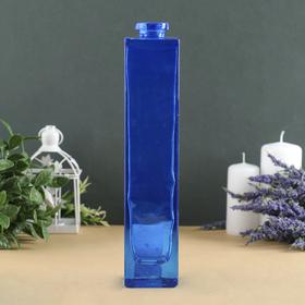 """Ваза """"Нарцисс"""" синий прозрачный d-2см; 5,5х 26,5см"""