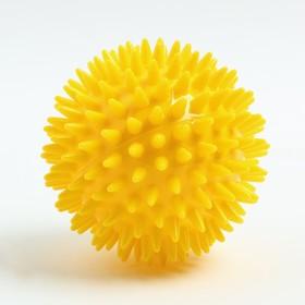 Мяч массажный ø8 см., цвет желтый Ош