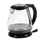 Электрический чайник Polaris PWK 1859CGL, 2200 Вт, 1.8 л, стекло, черный
