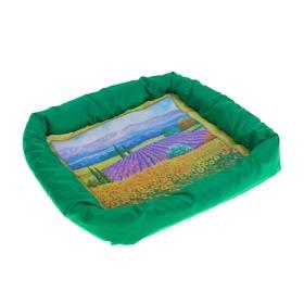 Лежанка с бортом 'Русское поле', 42 х 42 х 5 см, микс цветов Ош