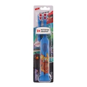 Электрическая зубная щетка Longa Vita Angry Birds KAB-1, вибрац., + насадка, от 3 лет, МИКС